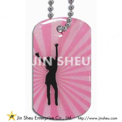 Full Color Printed Custom Dog Tags with Epoxy Covered - Full Color Epoxy Dog Tags