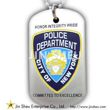 Custom Police Dog Tags - Police Badge Dog Tags