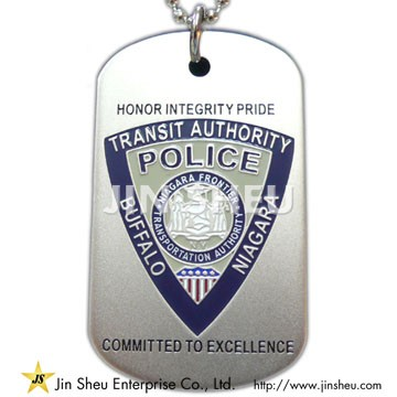 Metal Police Dog Tag - Metal Police Dog Tag