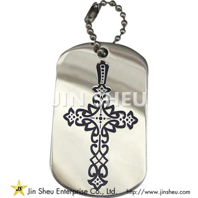 Christian Cross Dog Tag - Christian Cross Dog Tag