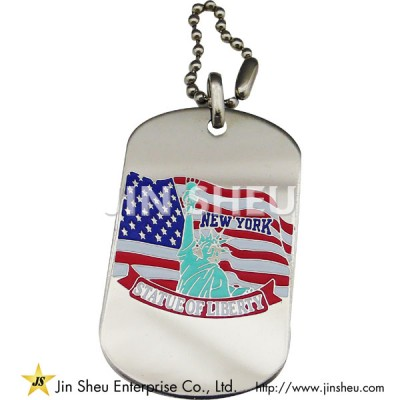 Patriotic Statue of Liberty Dog Tag - Patriotic Statue of Liberty Dog Tag
