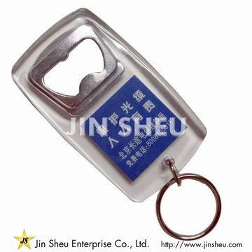 Acrylic Keychain with Bottle Opener - Acrylic Keychain with Bottle Opener