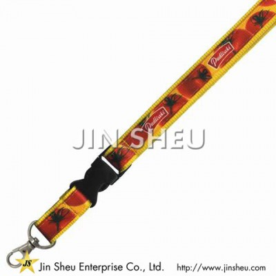 Double Layered Lanyards with Dye Sublimation - Double Layered Lanyards with Dye Sublimation