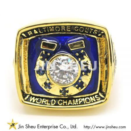 Custom Commemorative Champion Rings - NFL Fantasy Champion Ring