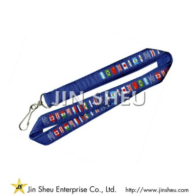 Dual Layer Lanyards with Woven Label Overlay - Dual Layer Lanyards with Woven Label Overlay