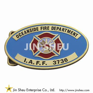 Fire Dept Maltese Cross Belt Buckle