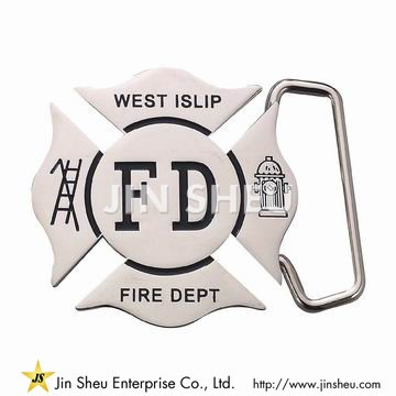Silver Firefighting Belt Buckles