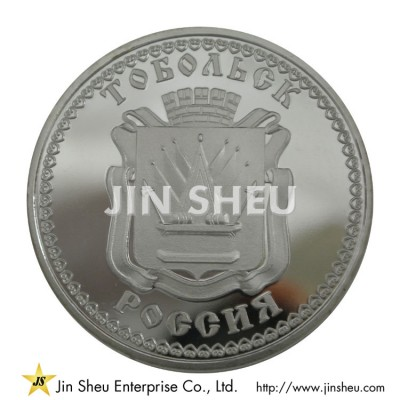 Coin with Mirror Effect