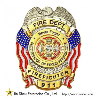 Firefighter Badges - Personalized High Quality Firefighter Badge