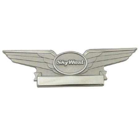 Pilot Wings Lapel Pins Made of S925 - Pilot Wings Lapel Pins