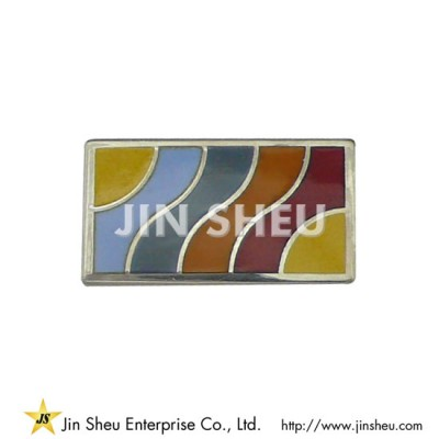S925 Lapel Pin - Square Lapel Pin