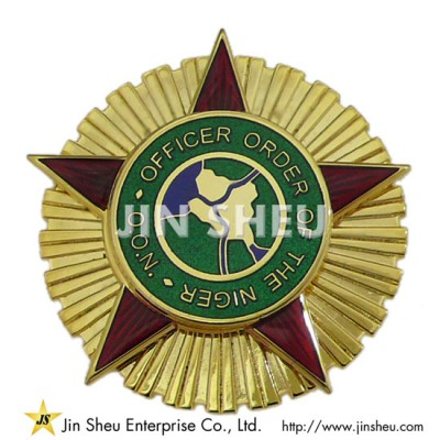 Gold Plated Pin Brooch - Custom jewelry 925 sterling silver souvenirs