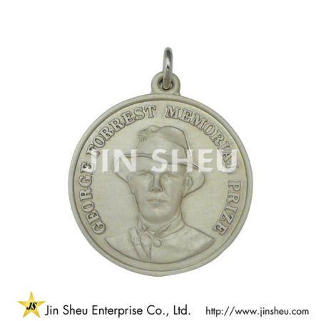 Sterling Silver Cowboy Pendant - Sterling Silver Cowboy Pendant