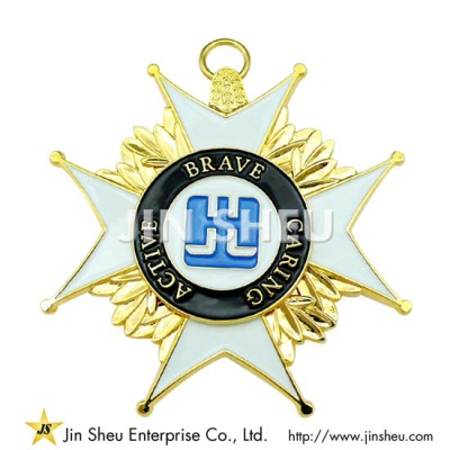 Sterling silver Medal Pendant - Silver Medal Pendant