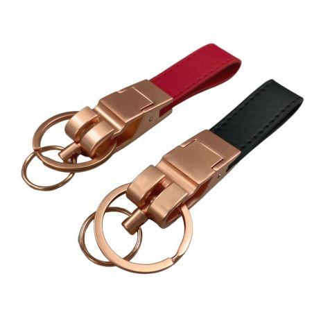 Custom Made Leather Keychain - Custom Made Leather Keychain