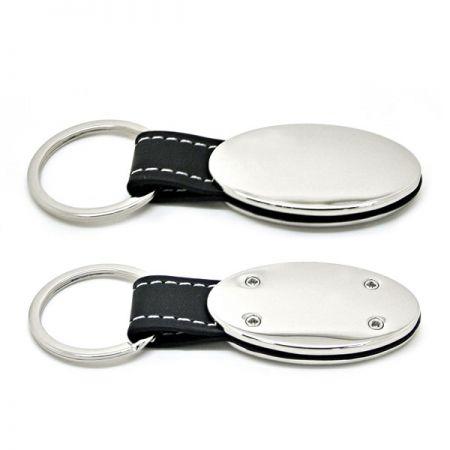 Personalized Leather Keyring - Personalized Leather Keyring