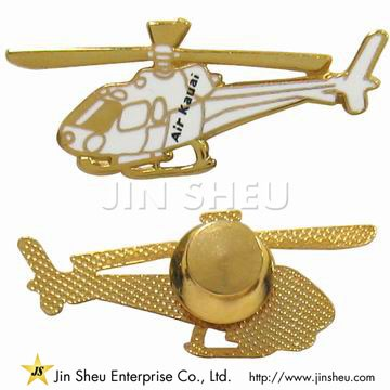 Helicopter Tie Tack Pin - Helicopter Tie Tack