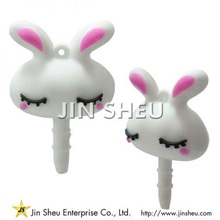 Cute Rabbit PVC Ear Caps - Cute Rabbit PVC Ear Caps