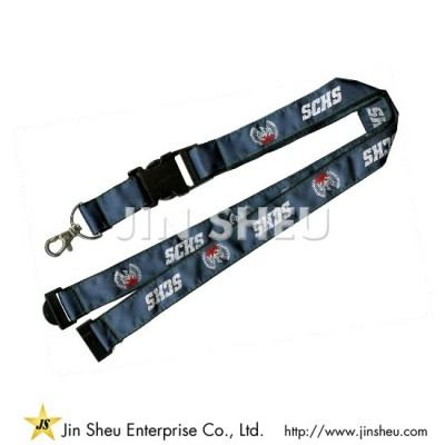 Double Layers Lanyards with Satin - Double Layers Lanyards with Satin