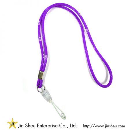 Purple Round Cord Lanyard - Purple Round Cord Lanyard