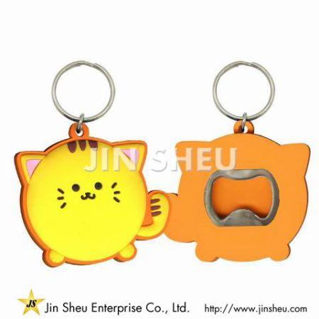 Cartoon Cat Bottle Opener Keychain - Cartoon Cat Bottle Opener Keychain