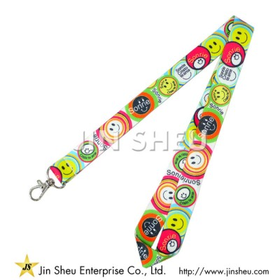 Full Colour Heat Transfer Lanyards - Full Colour Heat Transfer Lanyards