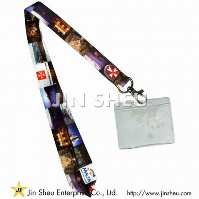 Heat Transfer Lanyard Badge Holders