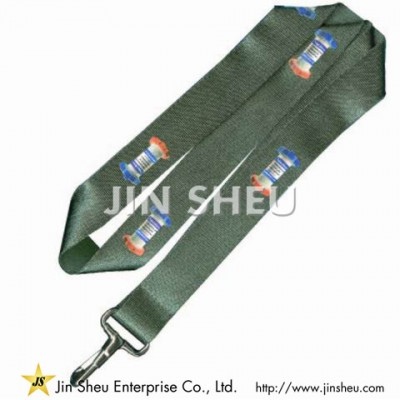 Logo Printed Imitation Nylon Lanyards - Logo Printed Imitation Nylon Lanyards