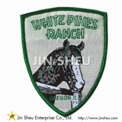Custom Shield Woven Patch - Woven Label Patches Factory