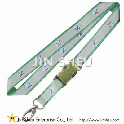 Reflective Lanyards with Printing - Reflective Lanyards with Printing