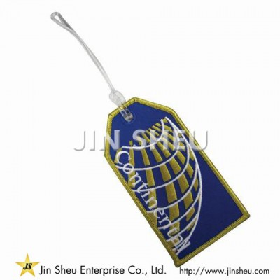 Continental Airlines Embroidered Luggage Tag - Continental Airlines Embroidered Luggage Tag