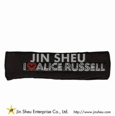 Custom Sweat Headband with Embroidery Logo - Custom Sweat Headband with Embroidery Logo
