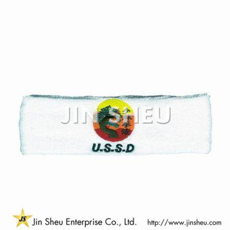Terry Flexible Sport Sweat Headband - Terry Flexible Sport Sweat Headband