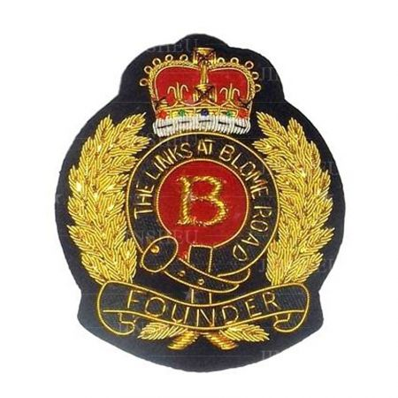 Blazer Badges/ Bullion Badges - Custom Made Blazer Badges/ Bullion Badges