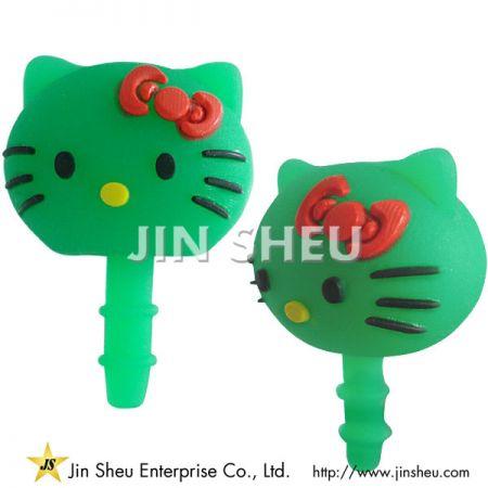 3D Soft PVC Phone Plug - 3D Soft PVC Phone Plug