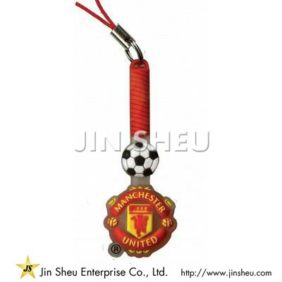 PVC Soccer Cell Phone Charms - PVC Soccer Cell Phone Charms