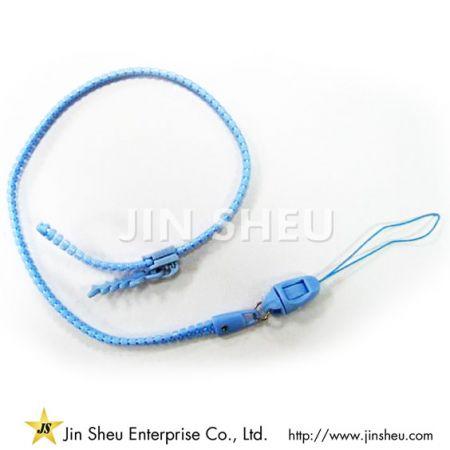 Plastic Zipper Lanyards - Plastic Zipper Lanyards