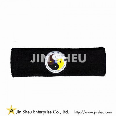 Terry Headband With Custom Label - Terry Headband With Custom Label