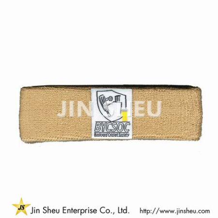 Sport Headbands with Woven Labels - sweat headbands