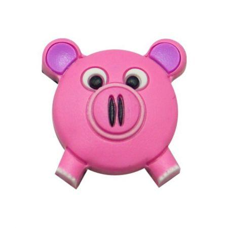 Pink Pig PVC Shoe Charms - Pink Pig PVC Shoe Charms