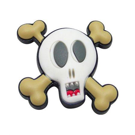 Pirates Skull PVC Shoe Charm - Pirates Skull PVC Shoe Charm