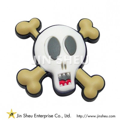 Pirates Skull PVC Shoe Charm - Pirates Skull PVC Shoe Charm