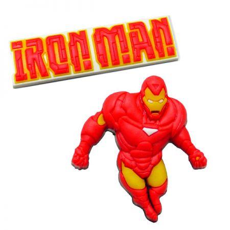 Iron Man Rubber Shoe Charms - Iron Man Rubber Shoe Charms