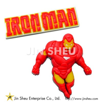 Iron Man Rubber Shoe Charms - Iron Man Rubber Shoe Charms