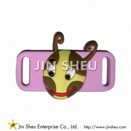 Personalized Soft PVC Shoelace Charm - Personalized Soft PVC Shoelace Charm