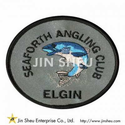 Reflective Patch with Embroidery - Reflective Embroidery Patch