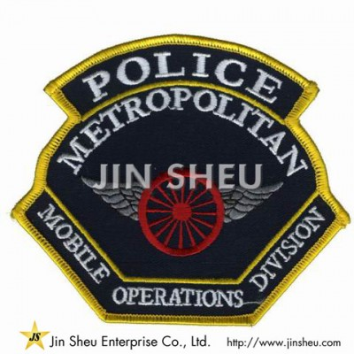 Iron On Police Patches - Security Embroidery Badges