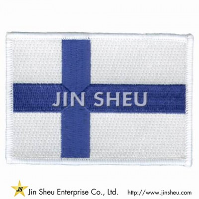 Finland Flag Embroidered Patch - Finland Flag Embroidered Patch