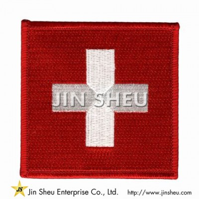 Switzerland Flag Patches - Switzerland Flag Patches