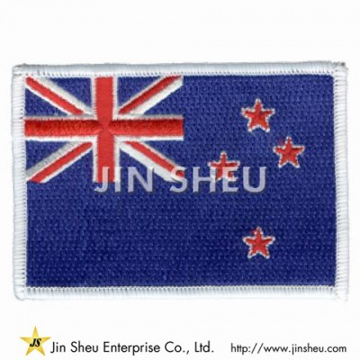 New Zealand Flag Embroidered Patch - New Zealand Flag Embroidered Patch